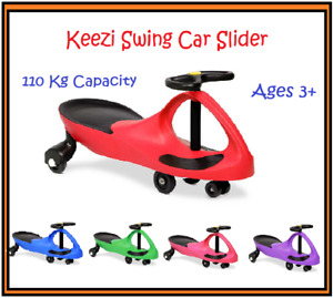 Keezi Swing Car Slider Stable Wiggle Scooter Safe Speed Kids Ride On Pedal Free
