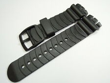 20MM HIGH QUALITY BLACK RUBBER STRAP FITS SWATCH SCUBA SPORTS MEN'S WATCHES