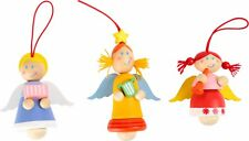 Legler wooden Angel tree decorations set of three