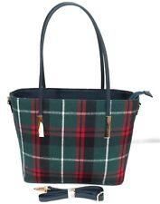 New Woman's Tartan Tweed Scottish Tote Gift Shoulder Bag Handbag set 2 UK seller