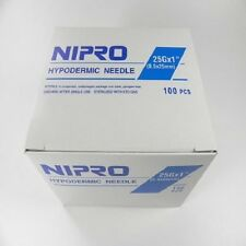 "Nipro 23G X 1"" Hypodermic Needle Sterile Blister Pack 100/bx AH+2325"