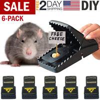 6PC Mouse Snap Traps Mice Squirrel Killer Trap Power Rodent Reusable Catcher