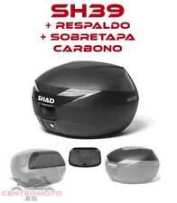 Baúl SHAD SH39 + respaldo + Tapa Carbono | D0B39100 | Baulete | Maleta | NUEVO!!