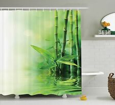 Asian Bamboo Reflection on Water Japanese Decorative Zen Spa Shower Curtain Set