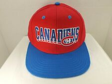 Montreal Canadiens Retro Vintage NHL Snapback CAP Hat NEW By Vintage Hockey