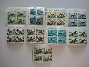San Marino 1965 Dinosauri serie completa in quartina MNH