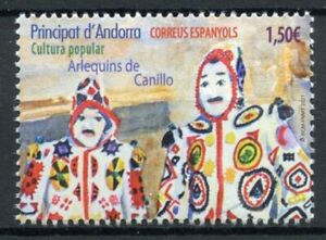 Spanish Andorra Cultures Stamps 2021 MNH Harlequins of Canillo Carnival 1v Set