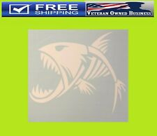 FISH SKELETON FEAR THIS DECAL STICKER VINYL Fishing Boat Lure Hunting BASS Sport