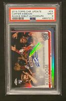 2019 Topps Chrome Update CARTER KIEBOOM Rookie Debut RC Autograph PSA 9 Mint