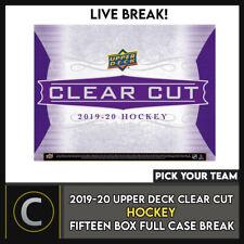 2019-20 UPPER DECK CLEAR CUT 15 BOX (FULL CASE) BREAK #H892 - PICK YOUR TEAM