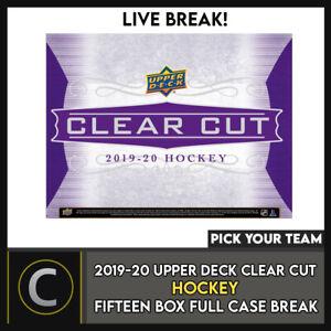 2019-20 UPPER DECK CLEAR CUT 15 BOX (FULL CASE) BREAK #H1203 - PICK YOUR TEAM