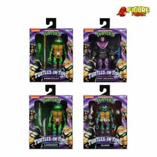NECA Teenage Mutant Ninja Turtles in Time Set of 4 (Slash, Leo, Donatello, Foot)