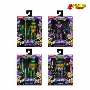NECA Teenage Mutant Ninja Turtles in Time Set of 4 (Slash, Leo, Donatello, Foot)