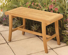 A-Grade Teak Wood Occasional Bench Stool Shower Spa Bath Outdoor Garden Patio NW