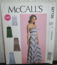 Womens/Misses Easy Dresses Or Skirts Sewing Pattern /McCall's 7130/SZ XS-M/UCN