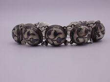 Antigüedades ruso Niello brazalete de plata 84 zolotniki ~ 1796 -98 fineza