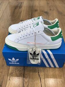 Adidas Rod Laver White Green UK9 BNIB  Casuals Terracewear FX5605