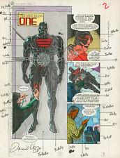 DOOM PATROL #34 Pg2 Jul '90 Original DC Hand-Painted Comic Art, TV Series