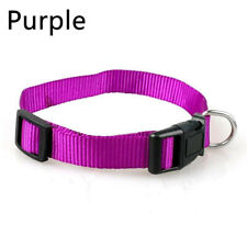 Dog Puppy Cat Kitten Purple Buckle Collar Pet Nylon Adjustable Collar Necklace
