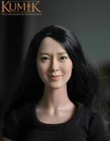 KUMIK 1/6 Asia Girl Female Head Sculpt Carving 12'' Figure Head Accessories