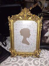 Photo Frame 5 x 7  ROCOCO gold SWIRLS French provincial desk study wedding