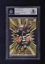 Drew Brees signed Purdue 2001 Press Pass football card Beckett Authenticated
