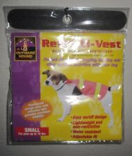 REFLECTIVE DOG VEST by Outward Hound BRIGHT ORANGE SZ SMALL Safety Reflecti-Vest