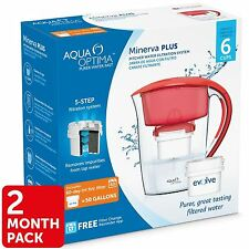 Aqua Optima Minerva Compact Slim Fridge Water Jug 2.5L + 60Day Filter fit Maxtra