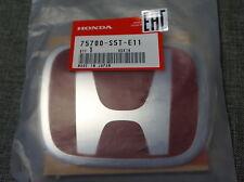 JDM Honda Civic Accord Odyssey Type-R Red Front Badge Emblem OEM Genuine TypeR
