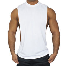 Mens Gym Bodybuilding Stringer Tank Top Muscle Sleeveless Fitness Vest Shirt Tee