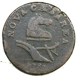 1787 39-a New Jersey Colonial Copper Coin