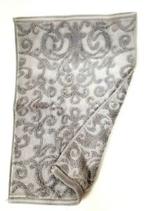 NEW TAHARI GREY,GRAY SWIRL PATTERN COTTON BATH,2 HAND TOWEL,OR 2 FINGERTIP