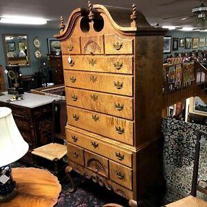 Donald Dunlap Queen Ann Tiger Maple Highboy Eldred Wheeler reproduce this design