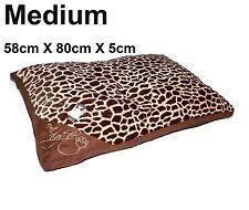 Medium comfy doux lavable chien animaux chat chaud panier lit coussin oreiller tigre