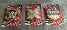 WWE Championship Title Belt Buckle- JAKKS, Lot of 3, NXT, US Champ, NEW 2017
