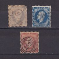 NORWAY 1856, Sc# 3-5, CV $205, Perf 13 (4s - perf 13.5), part set, Used