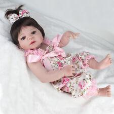 "22"" Handmade Reborn Dolls Newborn Babies Full body Vinyl Silicone Girl Baby Gift"