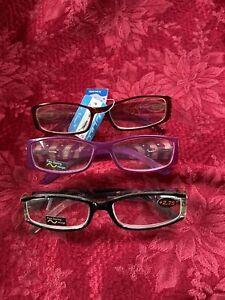 3 Pairs 2.75 Reading Glasses-BRAND NEW-Glitzy-Dressy-Fancy!