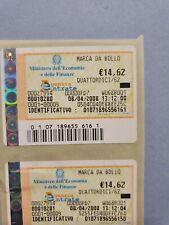 Marca Marche da Bollo da 14,62 €uro anni 2007 e 2008 - originali e valide