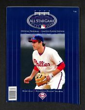 2008 MLB All Star Game Chase Utley LIMITED PLAYER EDITION program Phillies RARE