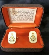 Collectable Vintage WAGR Cuff Links Western Australia Government Railways Rare