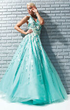 Tony Bowls Prom Dress 113539 Aqua Size 10 NWT