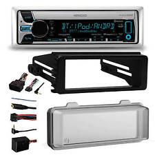 2016 Bluetooth Kenwood CD Radio, Cover, Harley 98-2013 FLHT FLHX Install Adapter