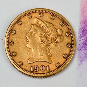 1901 S $10 Ten Dollar Liberty Gold Coin