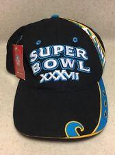 56900260b NWT 2003 NFL REEBOK SUPER BOWL XXXVII SAN DIEGO BLACK   TURQUOISE HAT