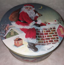 Delivering Santa Tin Music Box - Up On The House Top