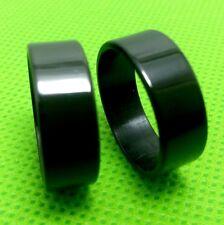 50PCS  Black Plain Band Wedding Men Women  Stainless Steel Rings lots wholesale
