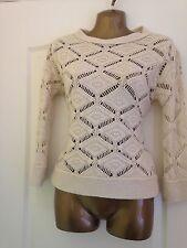 ZARA Cream Knit Jumper. Size M (size 10 - 12)