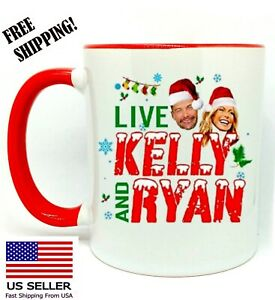 Live Kelly And Ryan Christmas Holiday 2020 Coffee Red Mug 11 oz