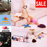 Flower Heart Love Type Key Chain Bag Purse Charm Ring Crystals Holder Keychain .